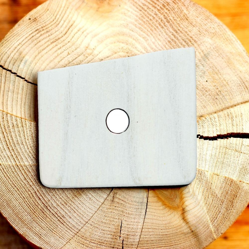 Wooden Pocket Square | Bianco | Baffi | Ash Wood