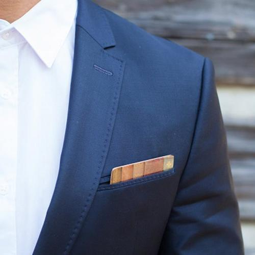 Wooden Pocket Square | Book Spines