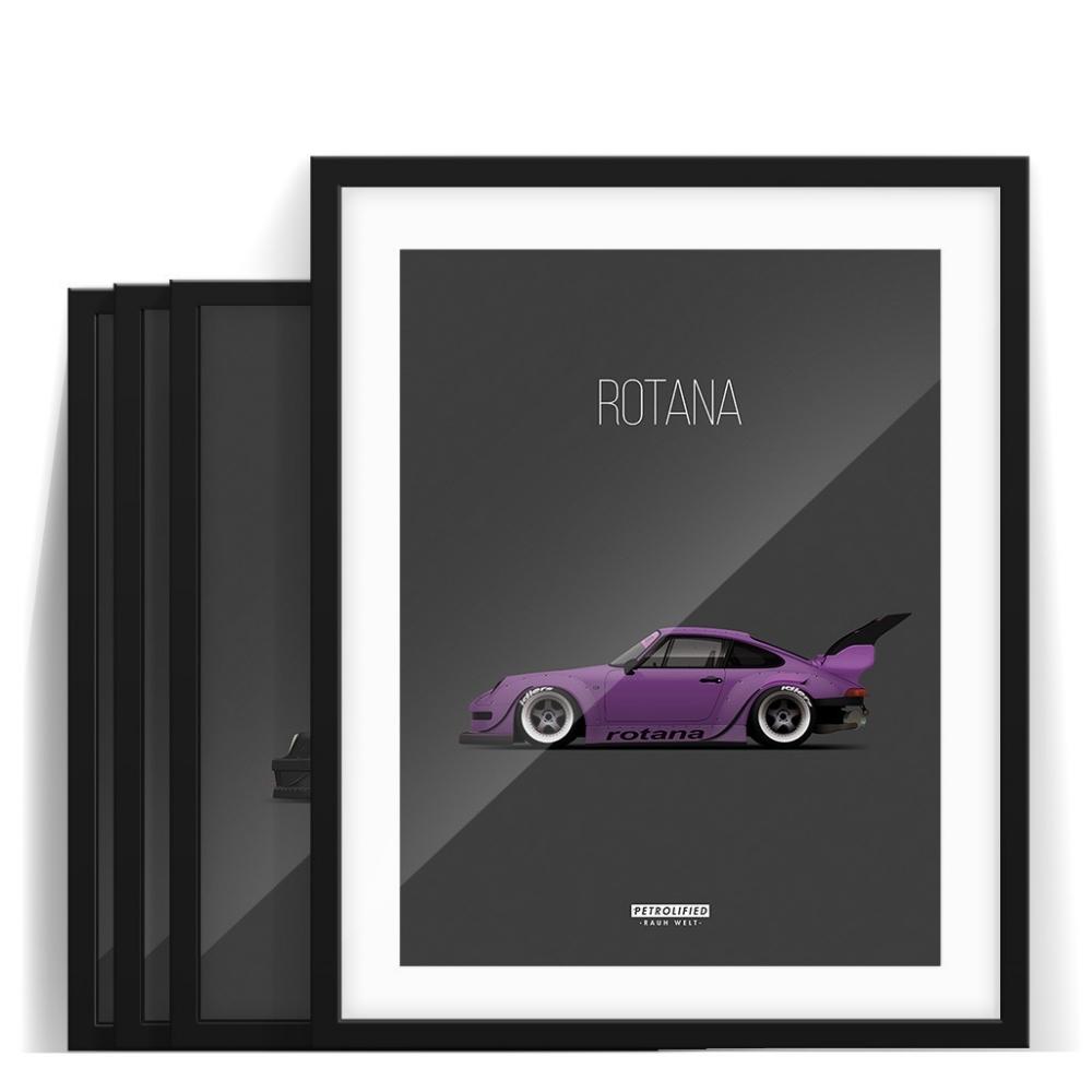 car prints, rwb collection, luxury car art
