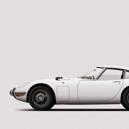 car prints, Toyota 2000GT, luxury car art