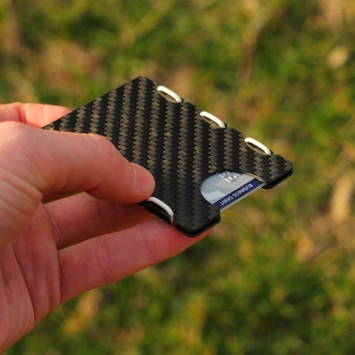 Ultra Carbon Fiber Wallet - White, Slimtech