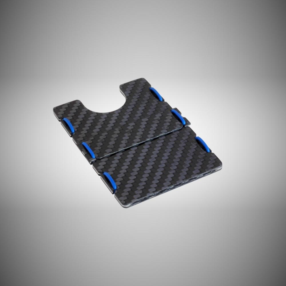 RIFD Carbon Fiber Wallet - Blue, Slimtech