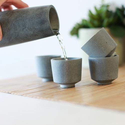 Soapstone Sake Set, Sparq Home