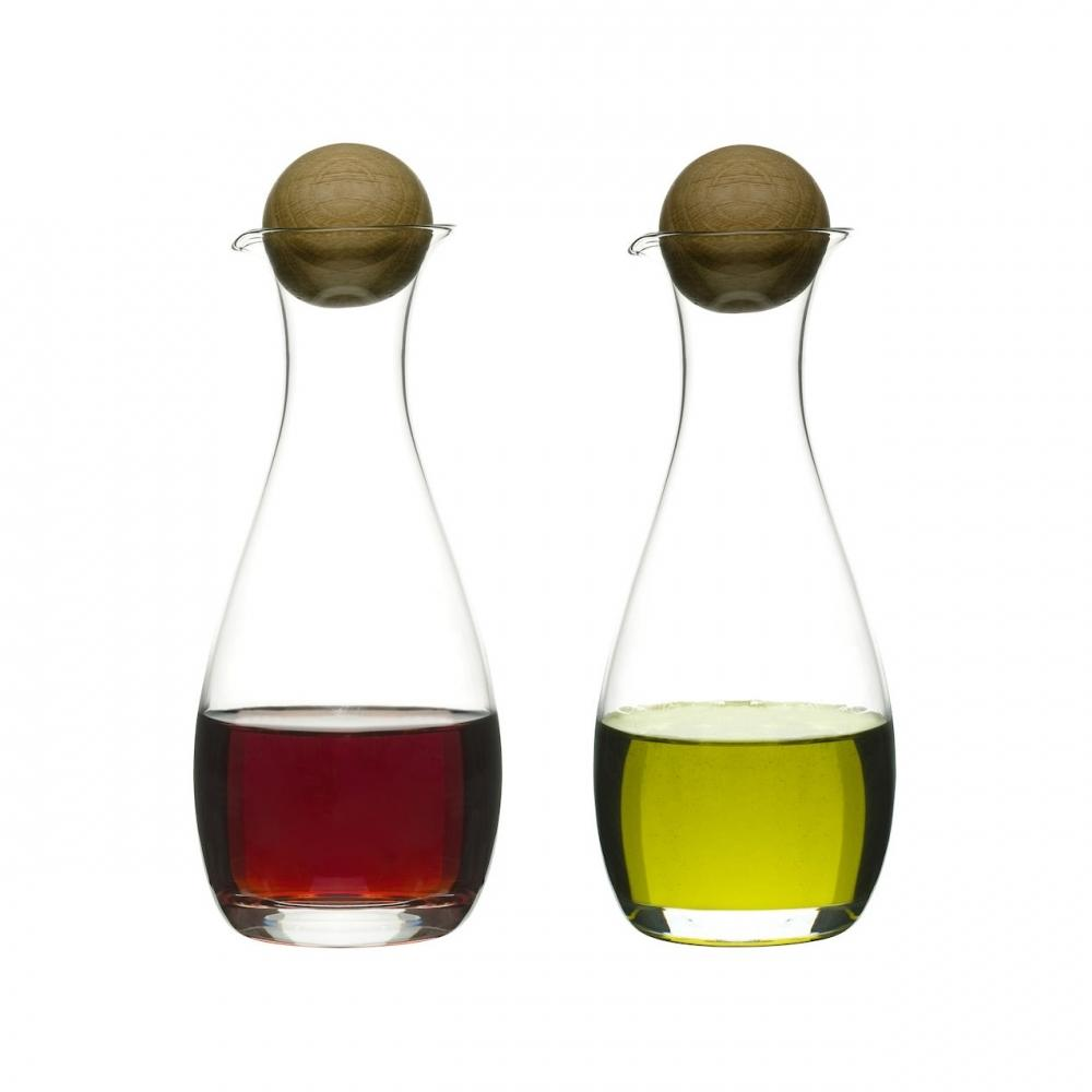 Glass Carafe Bottles | Oil & Vinegar Set | Sagaform