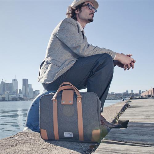 Hamptons Laptop Bag | Black, Gray or Brown | Venque