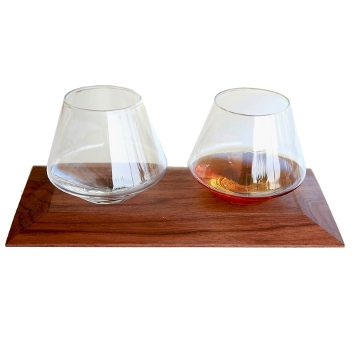 Wooden Glasses Tray | Cupa-Lift 2 | Sempli