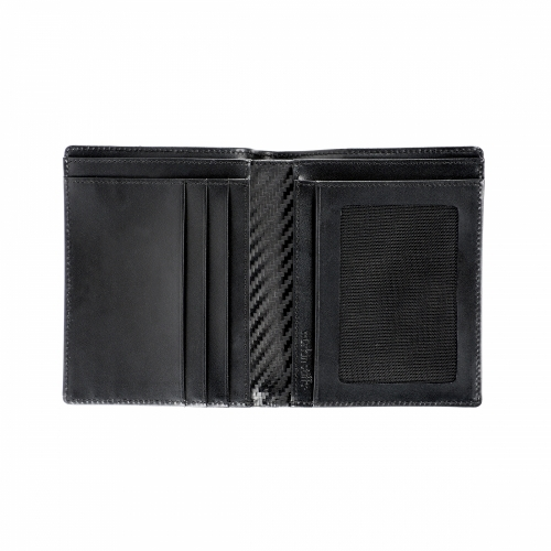 RFID Leather Carbon Euro Wallet