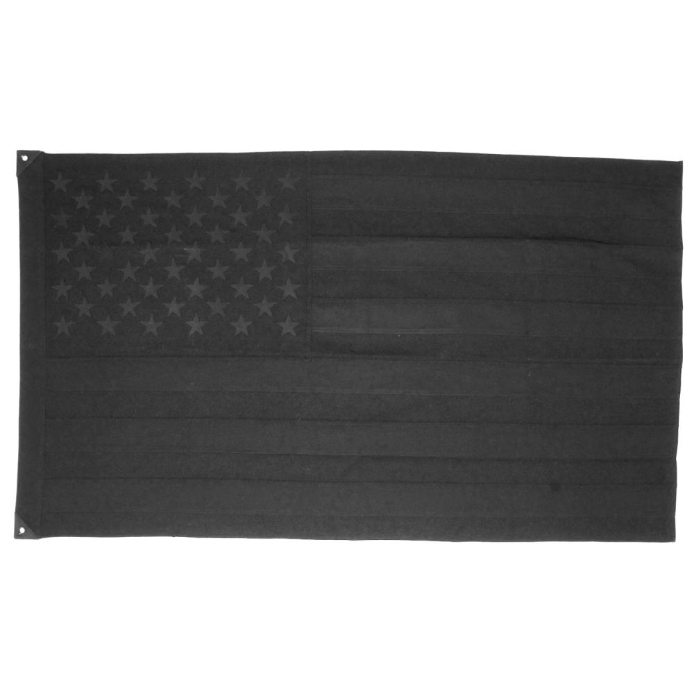 Wool American Flag, Black, Savarin & Charton