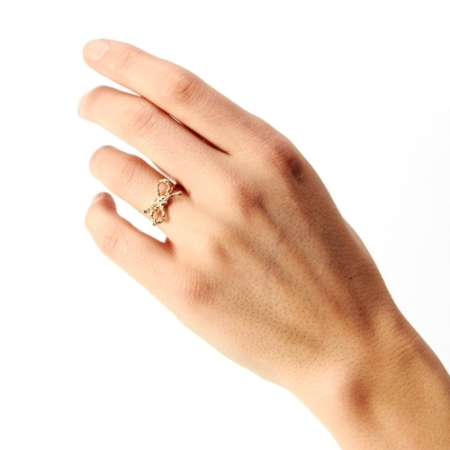 Forget Me Knot Ring, 14K Gold