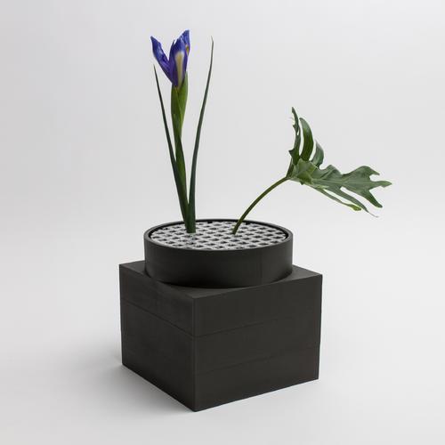 Tall Utility Vase | Black