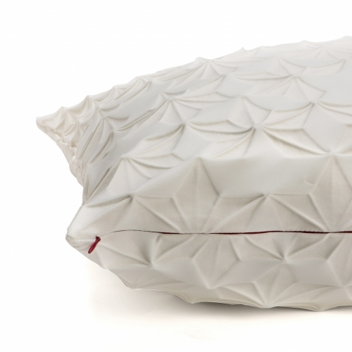 Amit Pillow Cover, White, Mikabarr