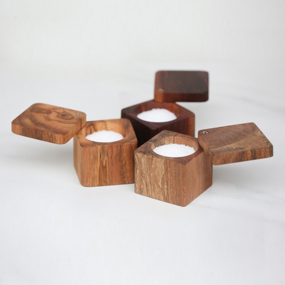 Salt Cellar with Lid, The Wooden Palate