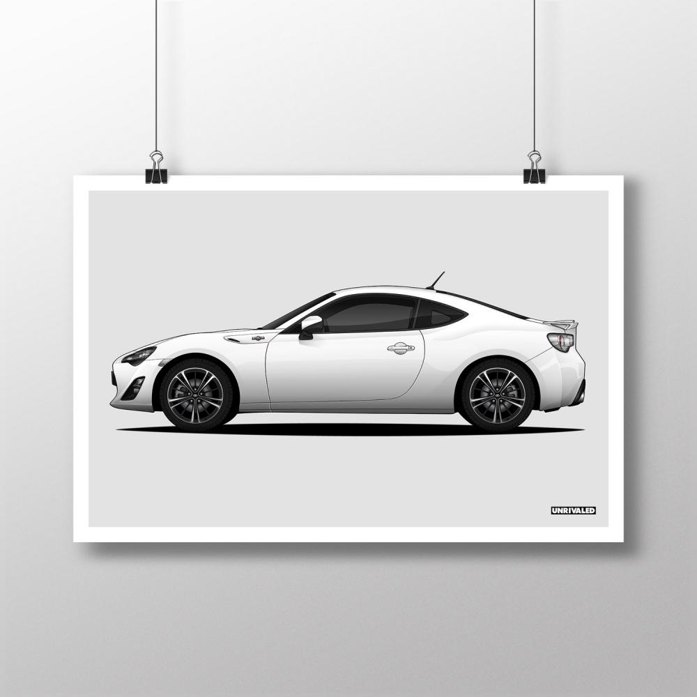 Toyota 86/GT86 Print, Unrivaled