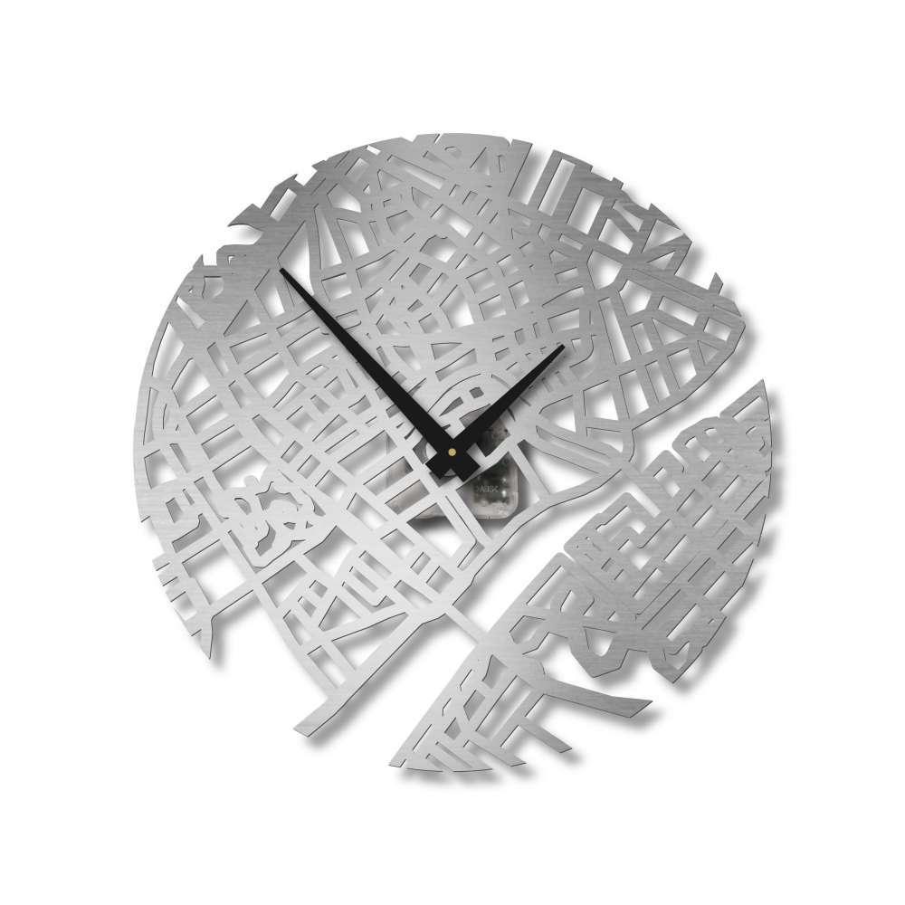 Copenhagen Stainless Steel Clock   Urban Story Clocks