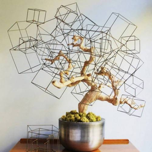 Free Form Wire Cubes, Set of 4