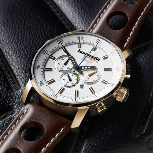 Imola Gold Leather White | Lambretta Watches