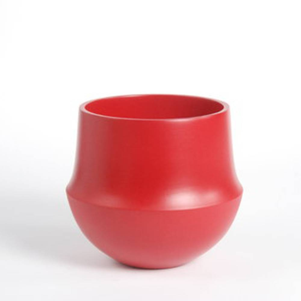 Fusion Flowerpot, Red - Fine Matte Ceramic Pot