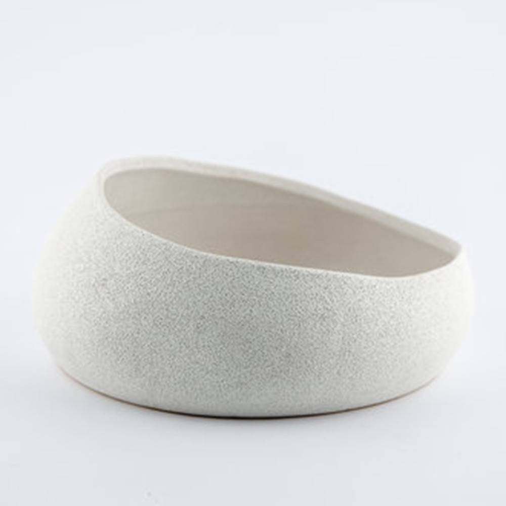Baz Bowl, White - Shiny Round Bowl