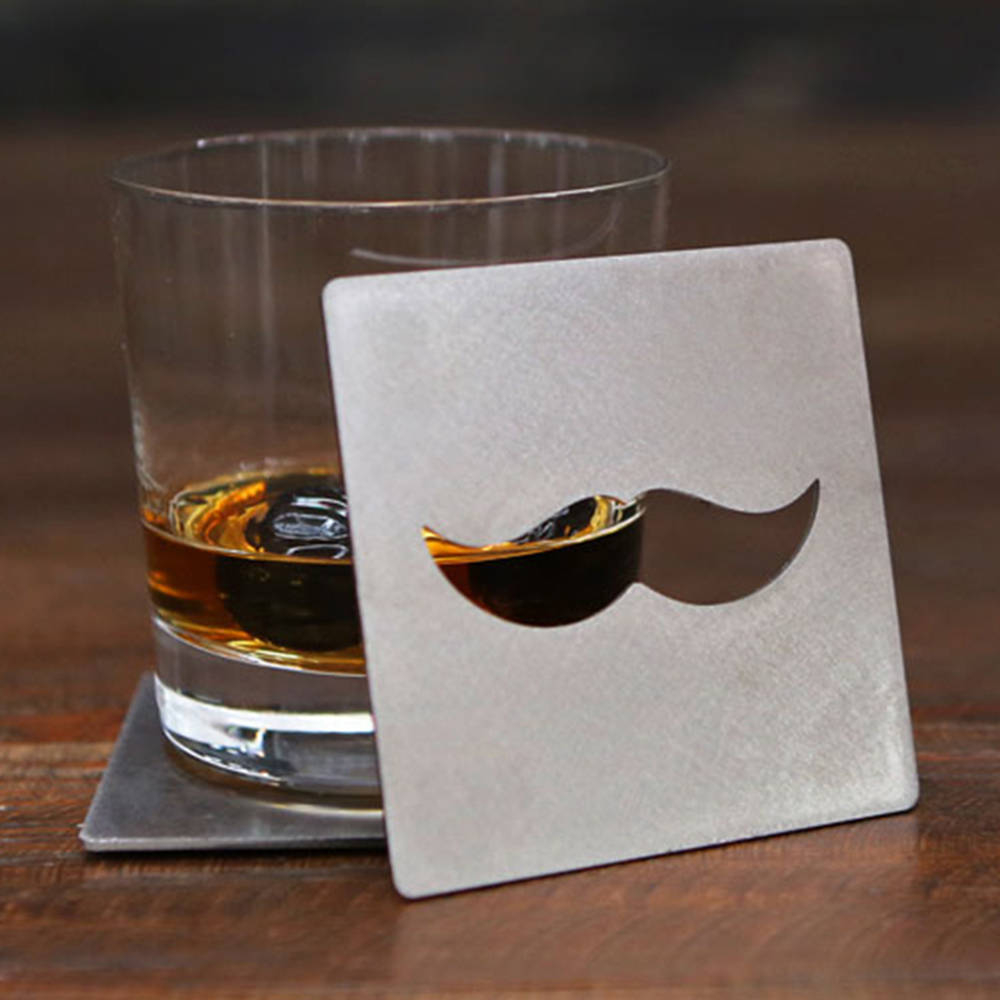 Mustache Coaster and Bottle Opener - the Coaster your Table Needs