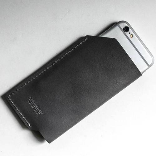 501 iPhone 6/6 PLUS Sleeve, Charcoal - Leather iPhone Sleeve