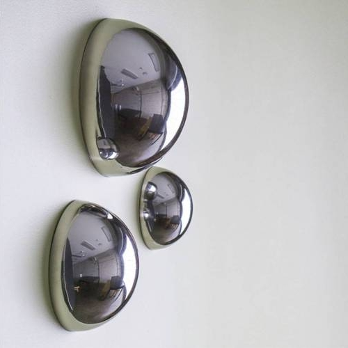 Stainless Steel Half Balls - Wall Decoration Set