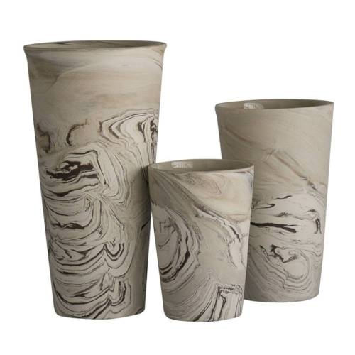 Agateware Vase, Set of 3 - A Set of Decorative Vases Ideal for any Interior Space