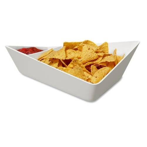 Chip + Dip Bowl - Bowl with Optional Sauce Dip Bowl