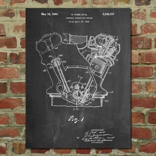 Internal Combustion Engine Patent Print - Patent Prints