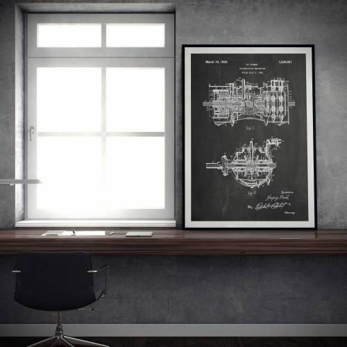 Transmission Mechanism Patent Print