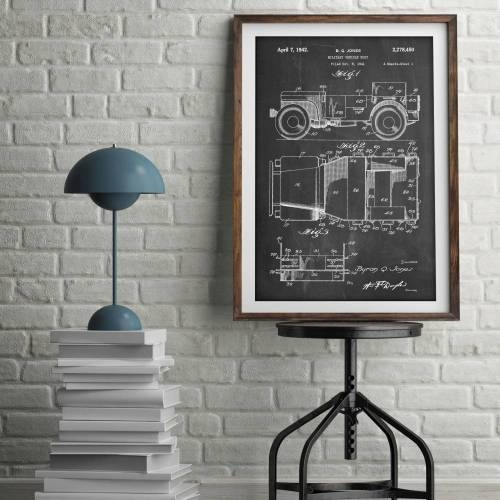 Willy's Jeep Patent Print - Patent Prints
