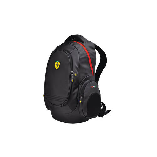 Black Laptop Backpack - Ferrari