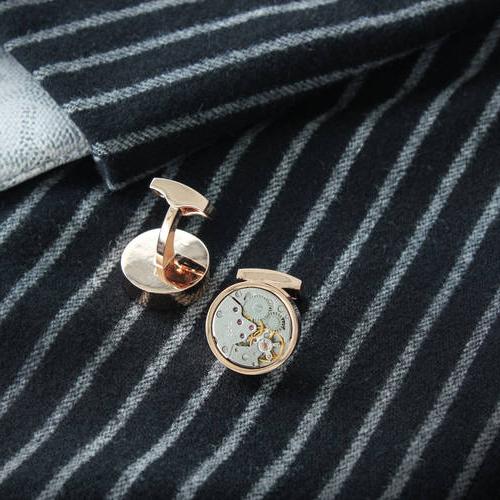 Round Gold - Steel Cufflinks
