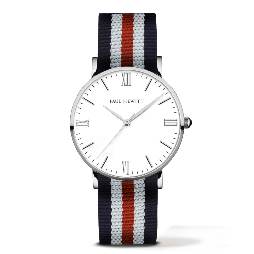 Silver Line Watch, Navy/White/Red II