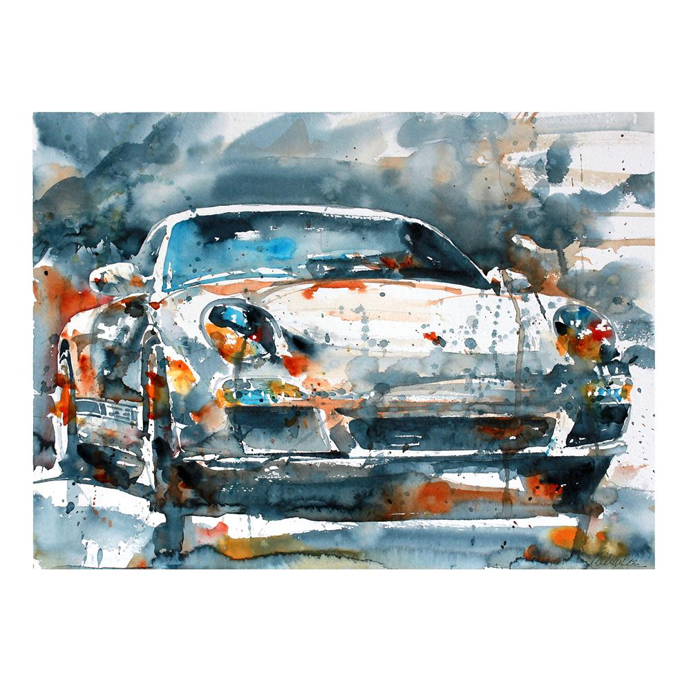 Porsche 911/997.2 Carrera S Watercolor Print | By Bilbeisi