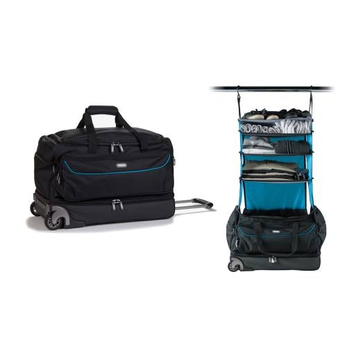 Roller Duffle Bag, Black/Blue