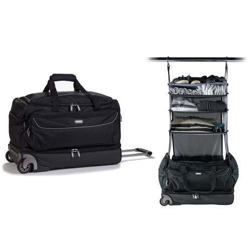 Roller Duffle Bag, Black/Grey