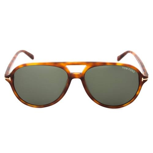 Tom Ford TF331 52N Jared Havana Aviator Sunglasses
