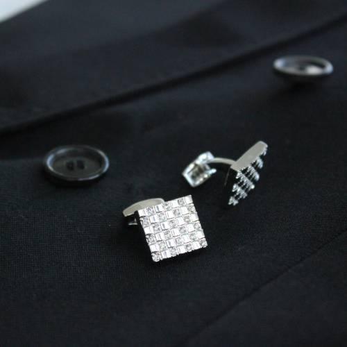 Diamond Checkered Cufflink - FlipMyTie
