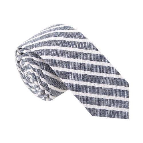'Busted Beverly' Blue Striped Tie