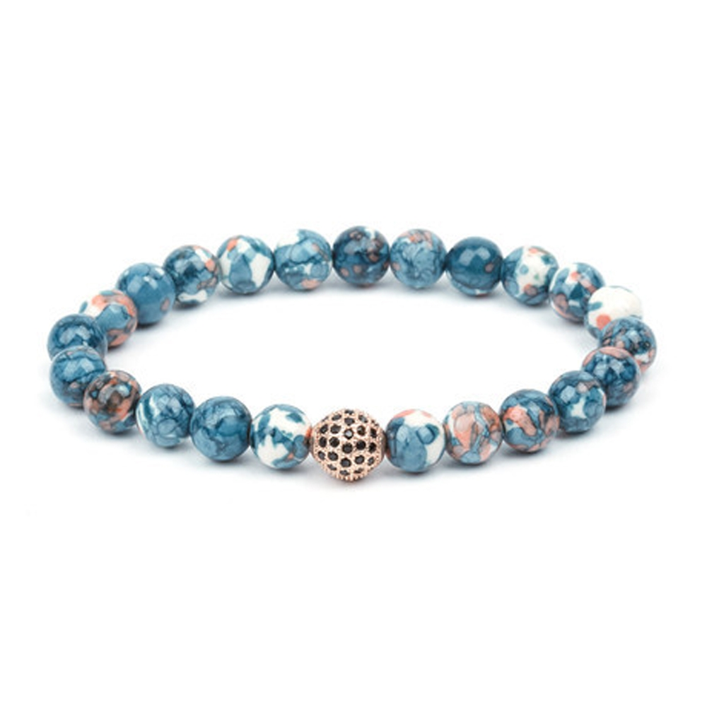 Rose and Blue Versatile Jackpot Bracelet - Buttigo