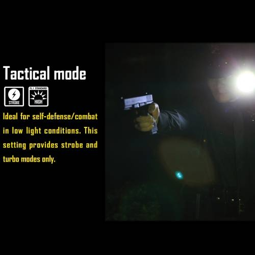 NiteCore P10 Tactical Strobe Ready 800 Lumens LED Flashlight