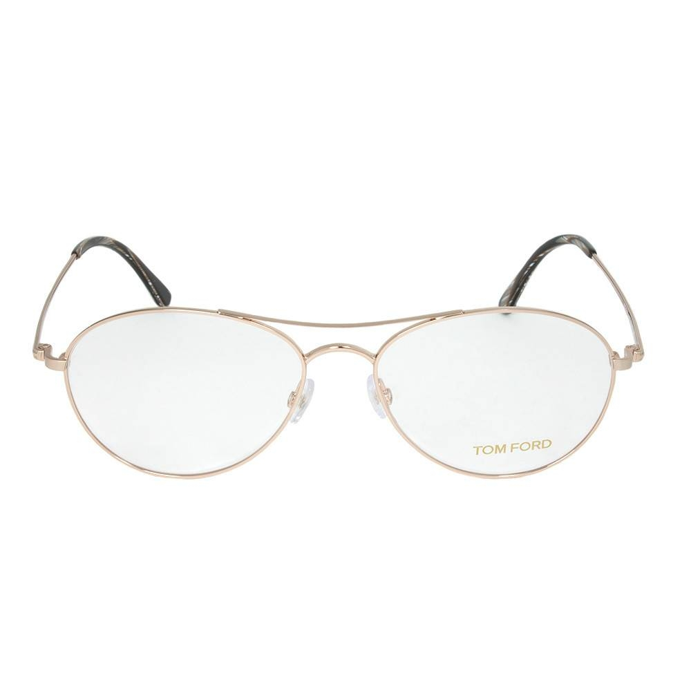 Rose Gold Aviator Eyeglasses Frame | Size 56