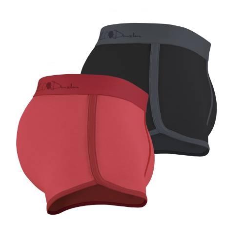 Kim Denzler 2-pack Boxer Briefs   Red + Black