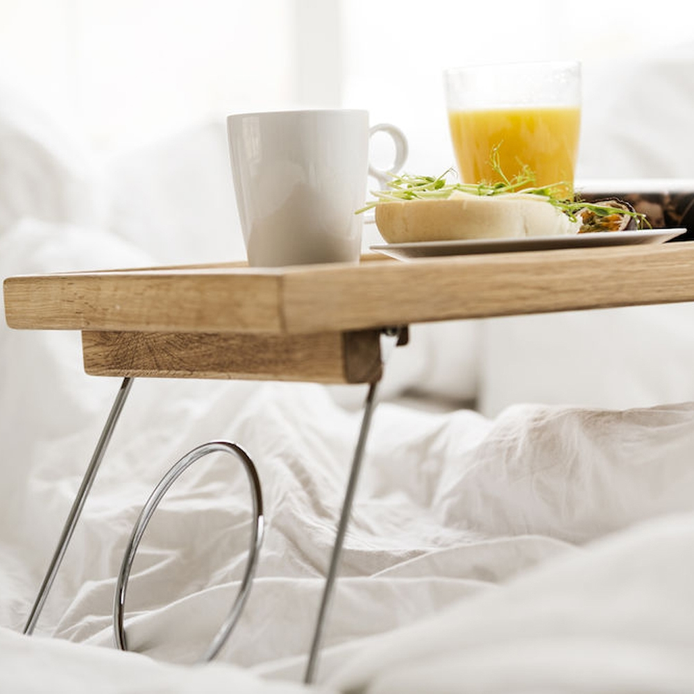 Oak bed Tray With Folding Legs | Sagaform