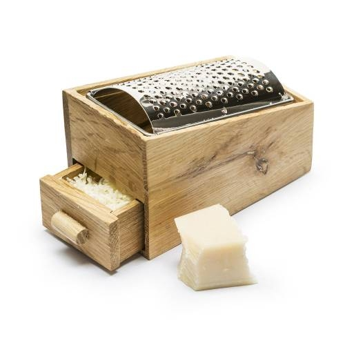 Oak Cheese Grater With Drawer