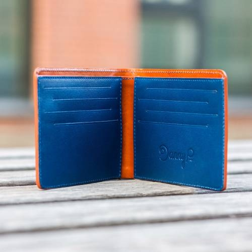 Brown/Blue Slim Wallet