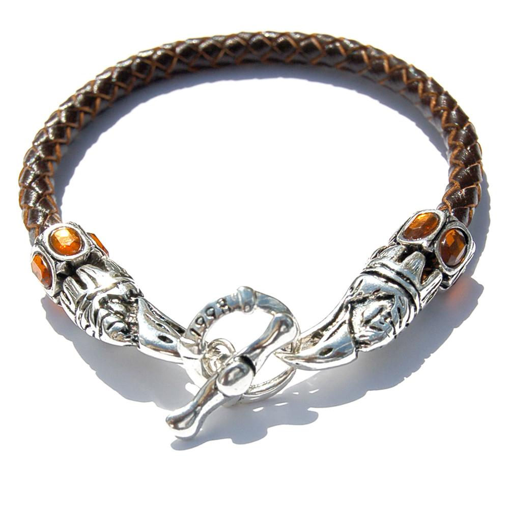 Leather Eagle Beak Clasp Bracelet​ | Who's Lookin' Design