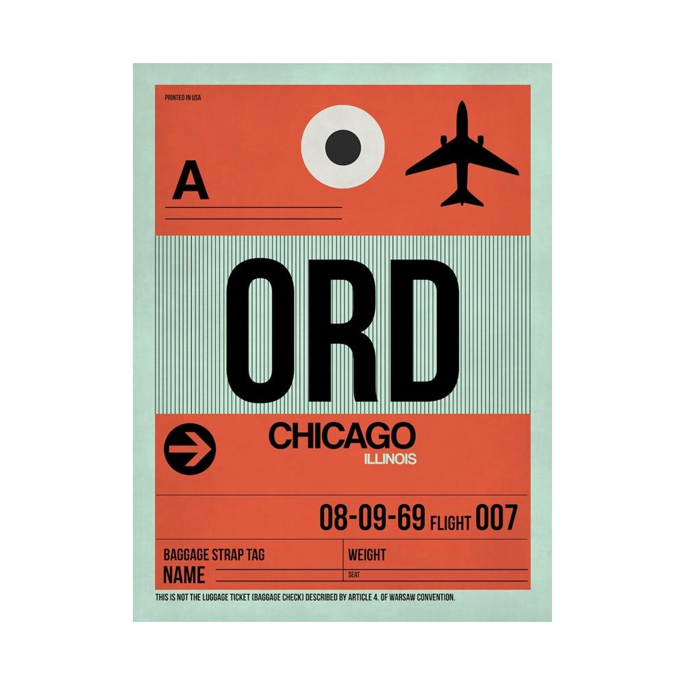 NaxArt | ORD Chicago Poster