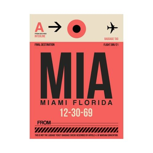 NaxArt   MIA Miami Poster