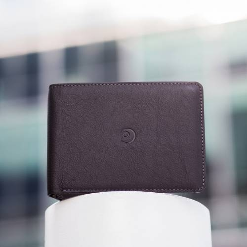 Black Slim Leather Wallet | Danny P